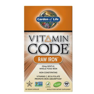 Garden of Life Vitamin Code Raw Iron - 30 Capsules