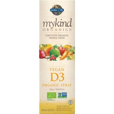Garden of Life mykind Organics Vegan D3 Spray - 58 ml...