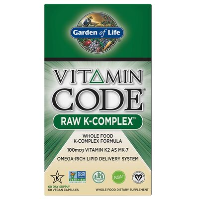 Garden of Life Vitamin Code Raw K-Complex - 60 Capsules