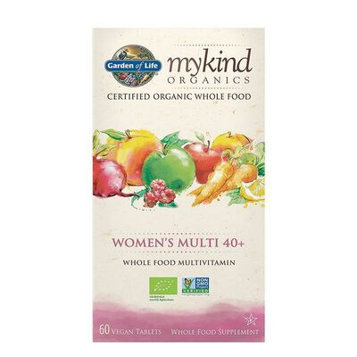 Garden of Life mykind Organics Womens Multi 40+ - 60 Tablets