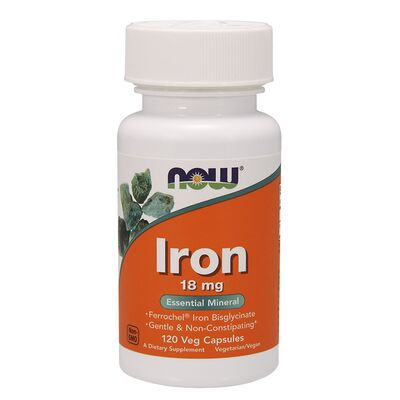 NOW Foods Iron 18mg - 120 Kapseln