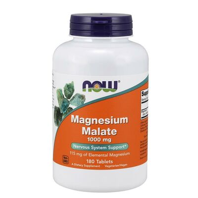 NOW Foods Magnesium Malate 1000mg - 180 Tablets