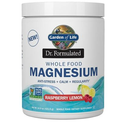 Garden of Life Dr. Formulated Whole Food Magnesium 419 g...