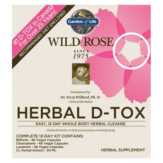 Garden of Life Wild Rose Herbal D-Tox 12-Day Cleanse - 1 Kit