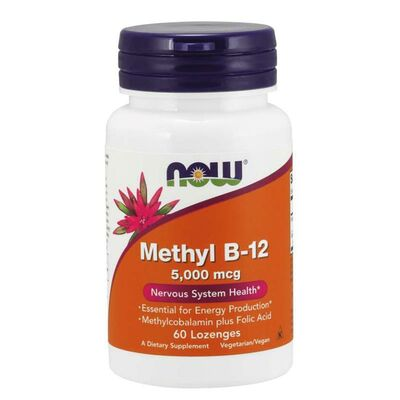 NOW Foods Methyl B-12 5000 mcg - 60 Lutschtabletten mit...